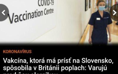 Dávam do pozornosti slovenským biskupom, ktorí sú z novej vakcíny nadšení, aby ešte zvážili svoje nadšenie.