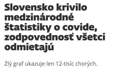 Slovensko krivilo medzinárodné štatistiky o Covide.