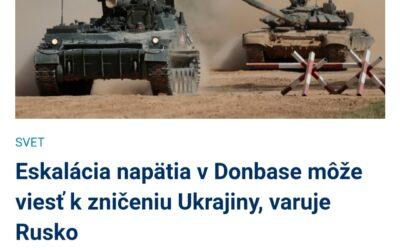 Z Ukrajiny opäť prichádzajú čoraz agresívnejšie odkazy.