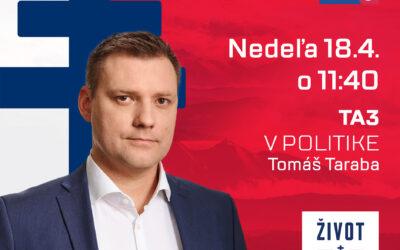 Videozáznam z relácie V politike na TA3